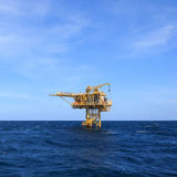 Three Legged Oil and Gas Production Platform Royalty Free Stock Images