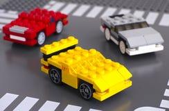 Three Lego custom cars Stock Photo