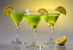 Three Lemon Cocktails Stock Images