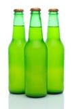 Three Lemon Lime Soda Bottles on White Stock Images