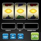 Three Lemon Slot Machine Stock Image
