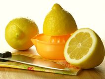Three lemons, isolated Royalty Free Stock Photography