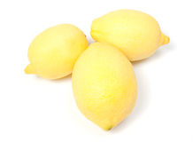 Three lemons, isolated on white Stock Photo