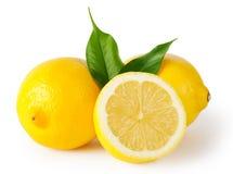 Free Three Lemons With Leaves Stock Photo - 36421100