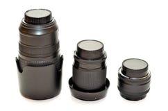 Three lenses Stock Photos