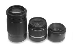 Three lenses Stock Photo