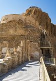 The Three Levels of the Northern Palace at Masada in Israel royalty free stock photos