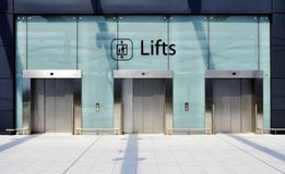Three lifts Stock Photo