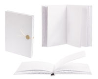 Three light books isolated on white Royalty Free Stock Photography