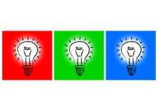Three Light Bulb Royalty Free Stock Images