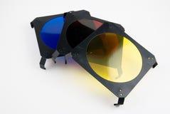 Three light filters Stock Photos