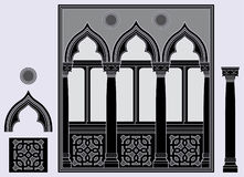 Three light window. And architectural elements Royalty Free Stock Photo
