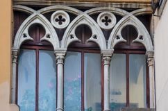 Three-light window. Viterbo stock photography