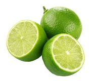 Three limes Stock Photos