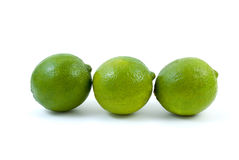 Three limes Stock Images
