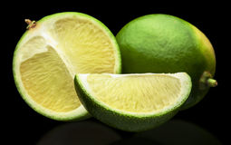 Three limes Stock Image