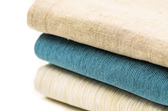 Three linen texture table cloth Royalty Free Stock Image