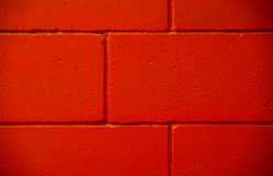Three lines red brick concrete painted wall Royalty Free Stock Images