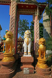 Three lion guardian statues Stock Image