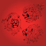 Three lions heads Royalty Free Stock Photography