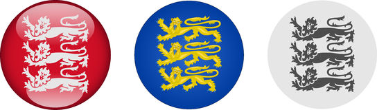 Three Lions Icon Set Royalty Free Stock Images
