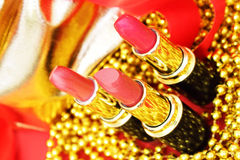 Three lipsticks Royalty Free Stock Photo