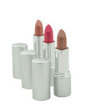 Three lipsticks Royalty Free Stock Photos