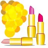 Three lipsticks Stock Photo