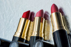 Three lipsticks Stock Photography