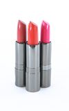 Three Lipsticks Containers Without Lids Royalty Free Stock Photos