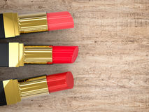 Three lipsticks Stock Photos