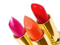 Three Lipsticks Royalty Free Stock Images