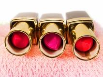 Three Lipsticks Stock Images