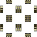 Three literary books pattern flat. Three literary books pattern seamless flat style for web vector illustration Stock Photo