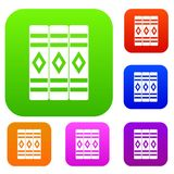 Three literary books set collection. Three literary books set icon in different colors  vector illustration. Premium collection Royalty Free Stock Photography