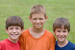 Three Little Boys Royalty Free Stock Photos