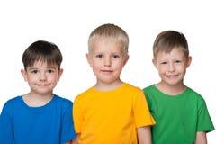 Three little boys Royalty Free Stock Photos