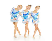 Three little dancers Royalty Free Stock Images