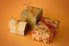 Three Little gift Stock Photography