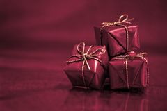 Three little gifts Royalty Free Stock Photos