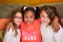Three Little Girl Friends Stock Photos