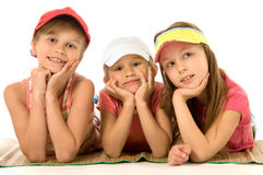 Three little girls Royalty Free Stock Images
