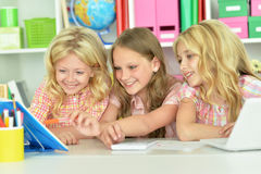 Three little girls Stock Photo