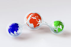Three Little Globes Royalty Free Stock Image