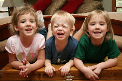 Three Little Kids Stock Photos