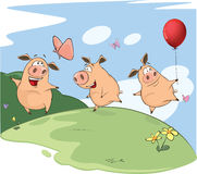 The Three Little Pigs Stock Image
