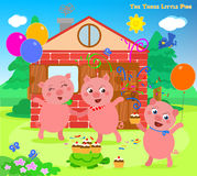 The three little pigs 12: happy ending Royalty Free Stock Image