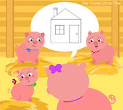The three little pigs 2. A new house Stock Photography