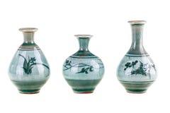Three little pots Stock Photo