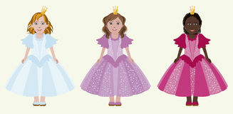 Three little princess Royalty Free Stock Images